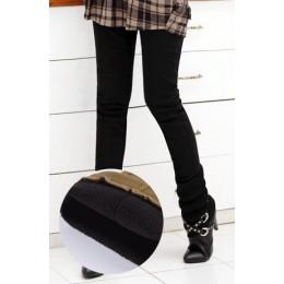 Zima ciepłe kobiety stretch wysokiej elastyczny pas dorywczo spodnie bawełniane Plus rozmiar S-4XL grube polary damskie spodnie