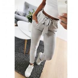 Nowy 2019 moda zima kobiety suede spodni spodnie w stylu panie skórzane spodnie kobiece spodnie na co dzień ołówek spodnie wysok
