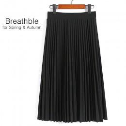 SheBlingBling wiosna jesień moda damska wysokiej talii plisowana jednolity kolor pół długość elastyczna spódnica promocje Lady c