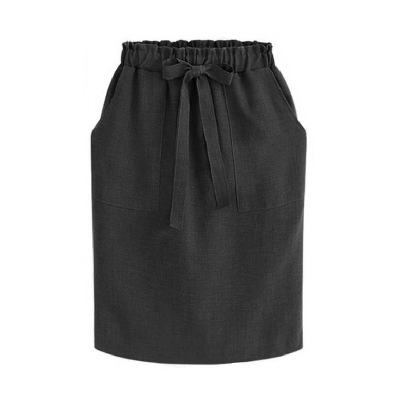 2019 nowa wiosna lato eleganckie spódnice Midi kobiet biuro
