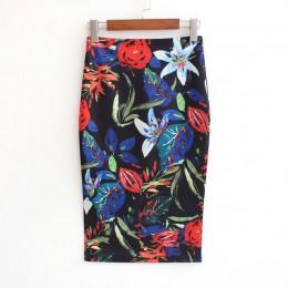 Hermicci 2018 lato styl spódnica ołówkowa kobiet wysokiej talii zielone spódnice w stylu Vintage elegancki Bodycon kwiatowy Prin