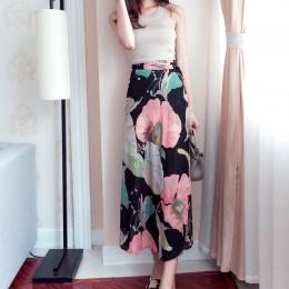 25 kolory 2019 czeski wysokiej talii kwiatowy Print letnie spódnice damskie Boho asymetryczna spódnica szyfonowa długie spódnice