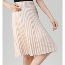 ANASUNMOON kobiety szyfonowa plisowana spódnica w stylu Vintage wysoka talia spódnice Tutu kobiet Saia Midi Rokken 2016 lato sty