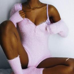 Dulzura 2019 nowa wiosna kobiety playtsuit aksamitne z długim rękawem bodycon biały ciepły festiwal boże narodzenie pajacyki kom