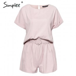 Simplee solidna co-ordinat kombinezon romper kobiety casual streetwear kombinezony playsuit panie koszula kombinezon krótki komb