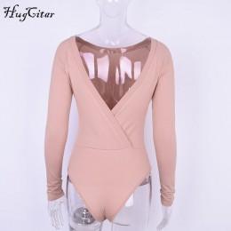 Hugcitar bawełna z długim rękawem jedno ramię stójka z dekoltem body 2017 jesień zima kobiety stałe sexy backless body