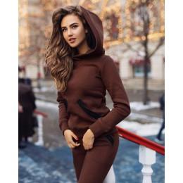 XUANSHOW 2018 moda jesień zima kobiety dresy stroje duży kapelusz bluzy + Slim pełne spodnie 2 częściowy zestaw kieszenie kobiet