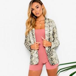 2019 w nowym stylu zima moda kobieta jednoczęściowy garnitur High Street wąż drukuj z długim rękawem sweter ścięty Leisure suit