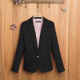 W kolorze cukierków kobiet garnitur długie rękawy płaszcz 2018 nowy modna kurtka Blazer femme pokryte w paski jeden przycisk Bla