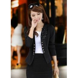 PEONLFY kobiety blezery i kurtki Plus rozmiar 5XL kostium damski Blazers Feminino Blaser kobiet żółty/biały/czarny/różowy Blazer