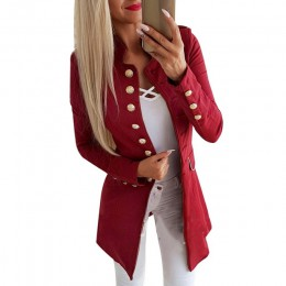 LASPERAL kobiety jesień Slim Fit Smart Casual Blazer długie rękawy biuro w stylu Vintage Gothic Plus Size panie kurtka jesień pł