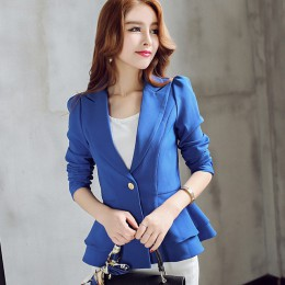 Sexy jesień nowych kobiet garnitur długie rękawy garnitury kobiet płaszcz Slim Blazers moda biuro kurtka Femme różowy niebieski
