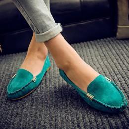 Plus rozmiar 35-43 kobiet mieszkania buty 2019 mokasyny cukierki kolor Slip na płaskie buty balet mieszkania wygodne damskie but