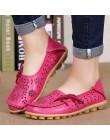 Duży rozmiar 34-44 2018 wiosna kobiety mieszkania buty kobiet płaskie buty ze skóry naturalnej damskie buty kobieta wycinanka sl