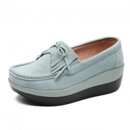 2019 wiosna kobiety mieszkania buty platformy Slip On płaskie mokasyny mokasyny kobiet zwiększenie buty na co dzień pani Sneaker