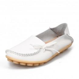 Hosteven kobiety buty z prawdziwej skóry mokasyny matka miękkie rozrywka mieszkania na co dzień kobieta jazdy balet obuwie