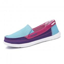 Praca tenisówki damskie kobieta panie buty w stylu casual Lady damskie mokasyny mieszkania Slip On buty tenis feminino zapatos d