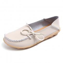 Kobiety mieszkania 2018 lato kobiet slipony prawdziwej skóry buty slip on balet muszka mokasyny balet mieszkania kobieta buty 24
