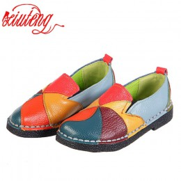 Xiuteng 2018 damskie mokasyny plastry szwy płaskie buty kobieta lato mieszkania miękkie cukierkowe kolory prawdziwej mokasyny sk