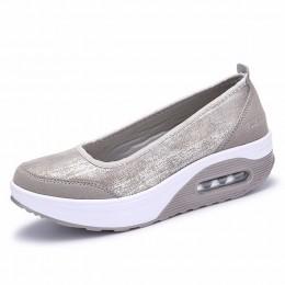 EOFK kobiety płaskie buty na koturnie damskie mokasyny moda damska Slip On płytkie huśtawka buty w stylu casual kobiety mieszkan