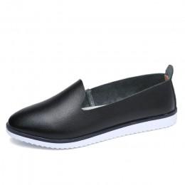 Kilobili damskie płaski baleriny buty oryginalne skórzane Slip on panie płytkie mokasyny buty w stylu casual damskie letnie moka
