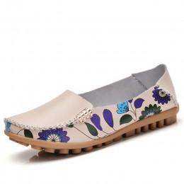 STQ 2019 wiosna kobiety mieszkania prawdziwej skóry buty wsuwane płaskie baletki baleriny mieszkania kobieta buty mokasyny buty
