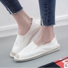 Kobiety mieszkania buty Slip On na co dzień panie tenisówki leniwe mokasyny oddychające damskie espadryle 2018 wiosna jesień obu