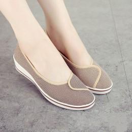 Cuculus damskie mokasyny miękkie poślizgu na płótnie mieszkania buty kobieta stałe na co dzień oddychające buty dla matki buty n