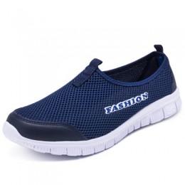 Wiosna lato kobiety trampki oddychająca siatka lekkie płaskie mokasyny buty w stylu casual kobiety moda buty trekkingowe Plus ro