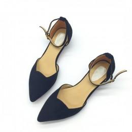 Modne eleganckie czółenka damskie na niskim obcasie zapinany pasek wokół kostki wygodne wycięte buty kolor czarny szary