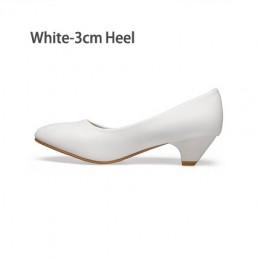 YALNN skórzane damskie Med obcasy nowe wysokiej wysokiej jakości buty klasyczne czarne i białe buty biurowe dla kobiet