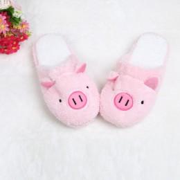 2019 nowe piękne kobiety Flip Flop słodkie świnia kształt domu miękkie paski pantofle pantofle buty damskie dziewczyny zima wios