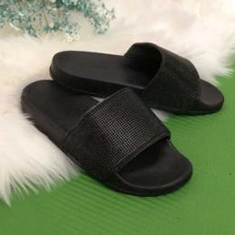 Rhinestone kobiety kapcie klapki japonki letnie kobiety kryształ diament Bling plaża slajdy sandały buty w stylu casual Slip On