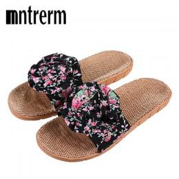 Xiuteng 2018 Hot Marketing letnia łazienka pantofel kryty domu damskie buty konopi sandały dekoracja kwiatowa buty dziewczyna