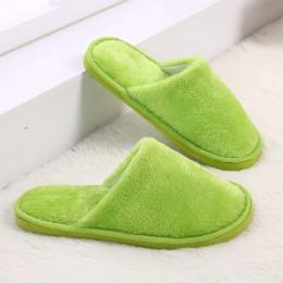 KESMALL cukierki kolor ciepłe kapcie kobiety sypialnia kapcie zimowe kapcie bawełniane piętro kapcie drop shipping WS304