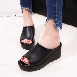2019 Hot sprzedaż kobiety lato modne buty rekreacyjne kobiety buty na koturnie sandałki dziewczęce kapcie z grubą podeszwą M307