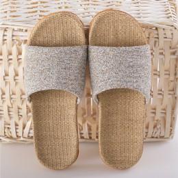 Suihyung lato len kapcie mieszane kolory na co dzień kapcie domowe pantofle domowe miłośników kobiety mężczyźni Open Toe kapcie