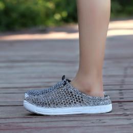 POLALI kobiety letnie galaretki buty plażowe sandały kobiety Hollow projektant kapcie klapki japonki kobiet lekkie Sandalias but