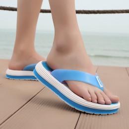 POLALI 2018 klapki na lato kobiety na co dzień masaż trwałe klapki japonki plażowe sandały damskie buty na koturnie paski pani k