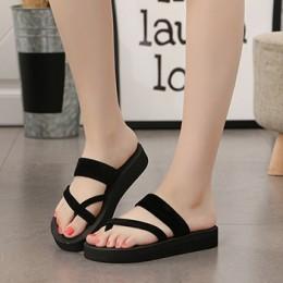Senza Fretta 2019 kobiety kapcie letnie klapki plażowe kwiat drukuj klapki japonki sandały kobieta panie mieszkania buty sapato