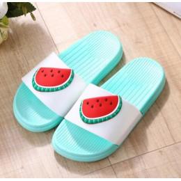 RASS PLE 2019 owoce klapki Open Toe antypoślizgowe cukierki kolor galaretki klapki japonki sandały slip On slajdy S buty kobiety