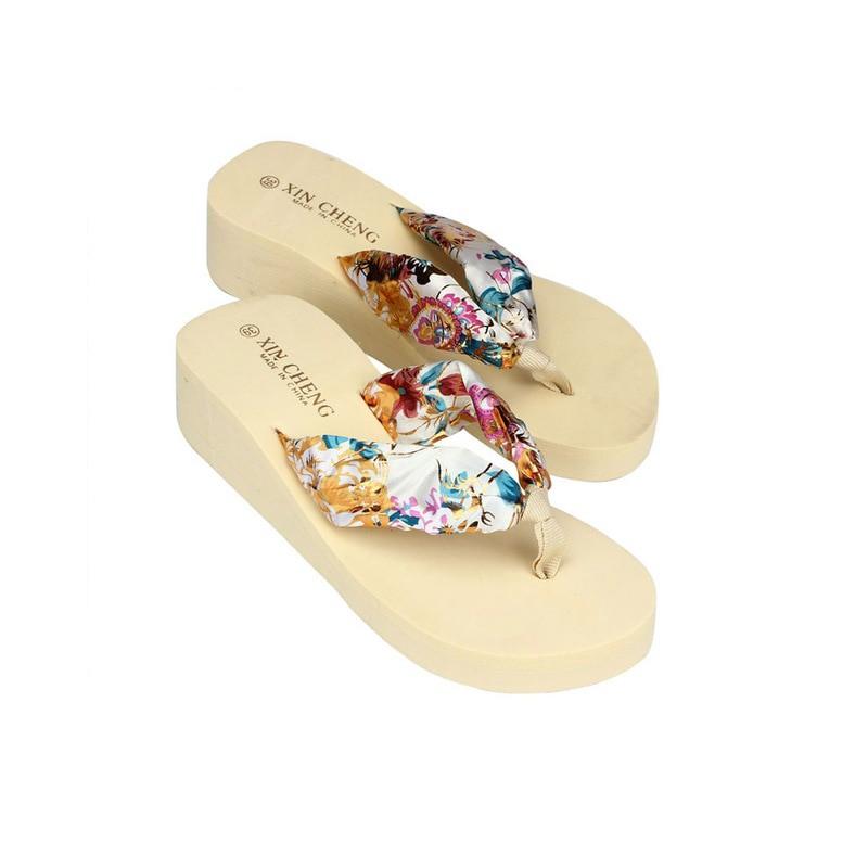 Kapcie damskie na co dzień nowy Bohemia Floral Beach sandały