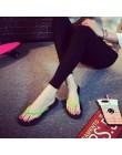 Bailehou moda kapcie damskie na co dzień płaskie buty klapki japonki plaży sandały Slip On slajdy cukierki kolor panie buty płas