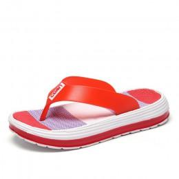 Kobiety lato klapki japonki na co dzień plaża stringi kapcie nowe damskie płaskie buty damskie platforma mieszane kolor moda par