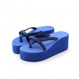 Adisputent Zapatillas sandały na platformie kobiety szpilki letnie buty moda strap klapki plażowe klapki japonki stałe slajdy ko