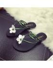 Moda kwiatowy buty plażowe damskie klapki na lato letnie klapki japonki płaskie 2018 nowe buty dla pań 35-40 rozmiar JDD34