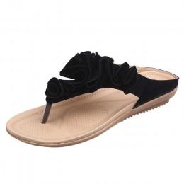 2019 kobiet kapcie plaży latem buty w stylu casual klapki japonki płaski obcas pantofel buty pani całkiem kwiatowy slajdy moda m