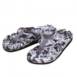 Nowe modne klapki letnie męskie pantofle kamuflaż klapki japonki buty wysokiej jakości sandały pantofel kryty odkryty klapki