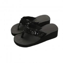 Buty kobieta sandalia feminina flip flop sandały kliny letnie Plus Size damskie buty buty na koturnie kobieta plaża czechy 2018