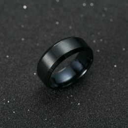 Pierścień mężczyźni Titanium czarny